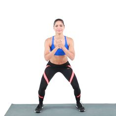 Jumping jacks and squats come together in squat jumps, one calorie-torching, lower-body burning exercise. Squat Workout, Belly Fat Workout, Hiit, Cardio, Pyramid Workout, Strength Workout, Get In Shape, Squats, Squat Jumps