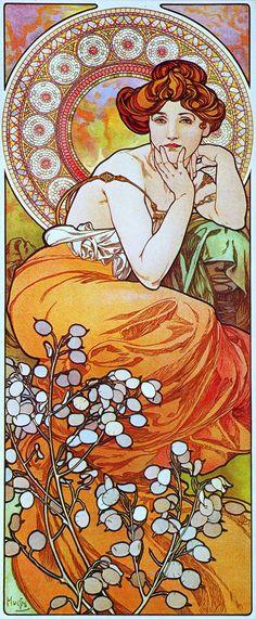 Alphonse Mucha. 1900 La Topaze. Les Pierres Précieuses