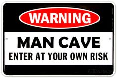 Man Cave Warning Tin Sign at AllPosters.com