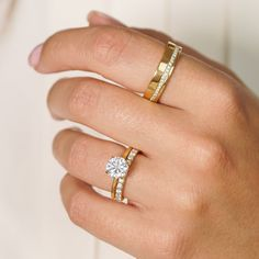 Editors eye on - simple ring layering. 💍 #BrilliantEarth #engagement #engagementring #diamondring #shesaidyes #diamonds #ringstack #finejewelry #rings #diamondrings #whitegold #ringgoals #style #ido #ringstacking #jewelrytrends #mission #sustainability #stacking Engagement Ring Styles, Halo Engagement, Engagement Inspiration, Brilliant Earth, Dream Ring, Yellow Gold Rings, Stacking Rings, Jewelry Trends, Wedding Bands