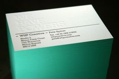 Blush Publishing Letterpress Printed Business Cards