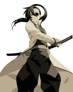 Anime female sword eyepatch