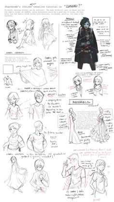 Clothing Tutorial (Notes) by shark-bomb.deviantart.com on @deviantART