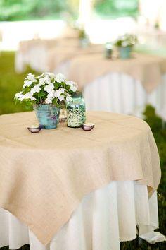 BURLAP & WHITE linens
