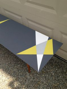 Geometric Painted MidCentury Coffee Table by RaincoastRelics