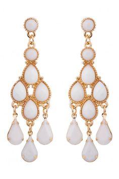 Tear Drop Earrings in #Ivory from @colette by colette hayman (AUD $7.95). Would make nice #wedding earrings.