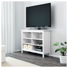 BRUSALI TV unit IKEA Adjustable shelves can be arranged according to your needs. Ikea Brusali, Ikea Tv Stand, Tv Wanddekor, Tv Bank, Farmhouse Tv Stand, Tv Stand Designs, Tv Wall Decor, Home Goods Store, Ideas Hogar
