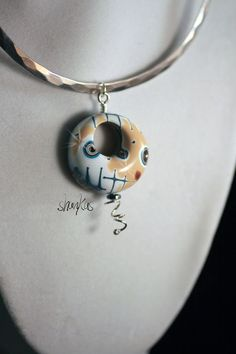 Polymer Clay Air Pendant  WEARABLE ART by shankas on Etsy