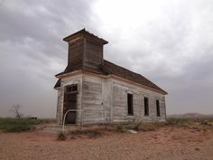 Abandon church in the middle of nowhere Texas
