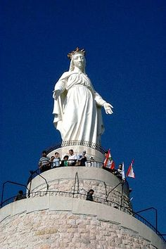 Statue of Virgin Mary, Harissa: A symbol of Lebanon for over 50 years, having stood perched on a mountain overlooking the sea since 1908. - Ramzi, Lebanon