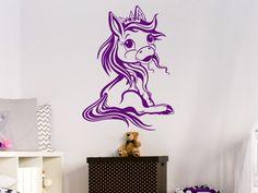 Marvelous Sitzendes Pony f rs Kinderzimmer Pferde ZimmerWandtattoo