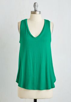 Endless Possibilities Top in Kelly Green | Mod Retro Vintage Short Sleeve Shirts | ModCloth.com