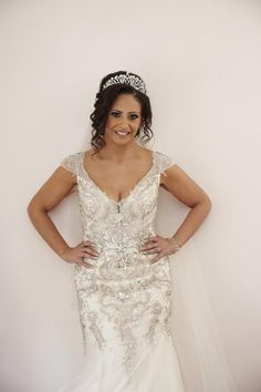 Rhinestone and crystal beaded wedding dresses from Darius Bridal are affordable and will not break the bank. Custom Wedding Dress, Wedding Dresses, Wedding Bride, Rustic Wedding, Simple Weddings, Dream Dress, Crystal Beads, Bridal Gowns, Designer Dresses