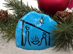 Nativity Painted Rock Christmas Nativity Hand Painted Rock
