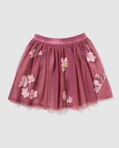 4704bf7cab Falda de tul de niña Freestyle en rosa con flores