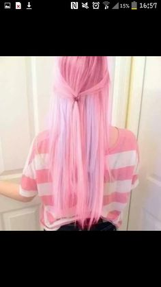 I hate pink but good hair