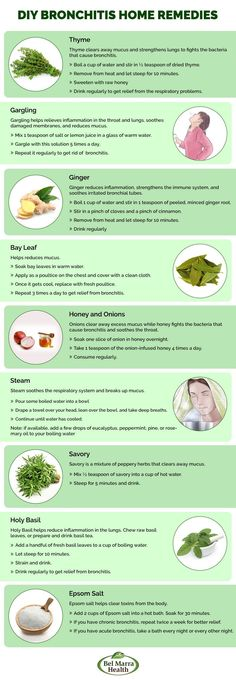 DIY #Bronchitis Home #Remedies.  #Infographic @belmarra