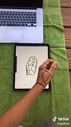 Art Drawings Sketches Simple, Pencil Art Drawings, Drawing Techniques, Drawing Tips, Digital Art Tutorial, Ipad Art, Art Sketchbook, Art Tutorials, Art Reference