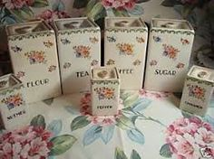 Image result for shabby chic kitchen canisters