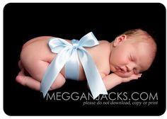 love this bow idea for newborn photoshoot