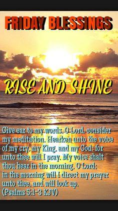 FRIDAY BLESSINGS: Psalm 5:1-3 (1611 KJV !!!!)