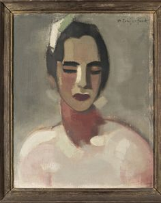 helene schjerfbeck (finnish, the californian lady oil on canvas Abstract Portrait Painting, Portrait Art, Figure Painting, Painting & Drawing, Portraits, Helene Schjerfbeck, Helsinki, Bad Art, Paintings I Love