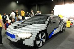 BMW i8 Concept made out of Legos!