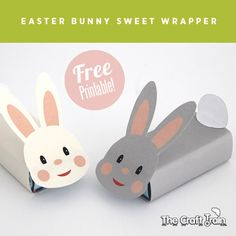 Free Printable easter bunny candy wrapper