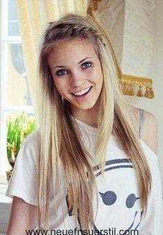 11.Blonde Lange Frisur