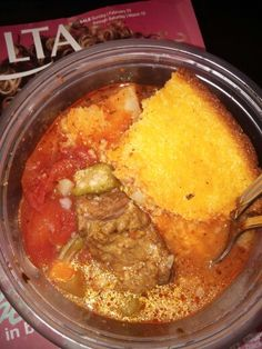 OX TAIL STEW WITH BEEF SHORT RIBS and Veggies Corn Bread