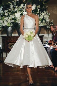 smooth tea length wedding dress