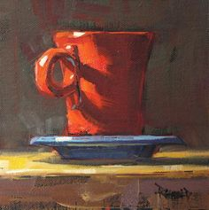 Coffee art painting heart 17 new Ideas Painting Still Life, Still Life Art, Art Painting Gallery, Art Gallery, Painting Art, Heart Painting, Original Art, Original Paintings, Guache