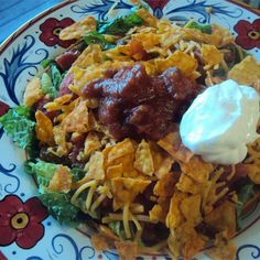 """Taco Salad I I """"Everyone loved this at my in-laws, even kids and picky eaters! Excellent and easy!"""""""