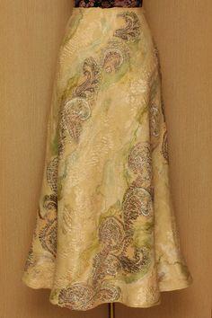 Dream Sand Waves / Felted Clothing / Skirt. $330.00, via Etsy.