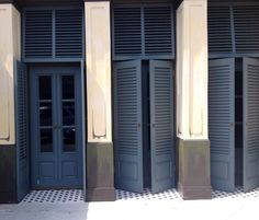 Hollister store doors and shutters