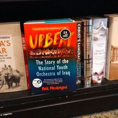Spotted in ‪#‎Manchester‬, copies of UPBEAT, The Story of the National Youth ‪#‎Orchestra‬ of ‪#‎Iraq‬, the new book by Paul MacAlindin, were on proud display in the ‪#‎TraffordCentre‬ branch of ‪#‎Waterstones‬ bookstore.