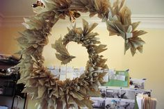 Seems somewhat sacriligous to do this with book pages, but I guess it's something to do with those books that are no longer fully in good shape. Create beauty and objects of interest.