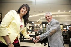 and Hilton Mer, Executive Chairman cut the ribbon to officially launch the new Wow! What a store! This Is Us, Product Launch, Ribbon, Store, News, Coat, Fashion, Tape, Moda