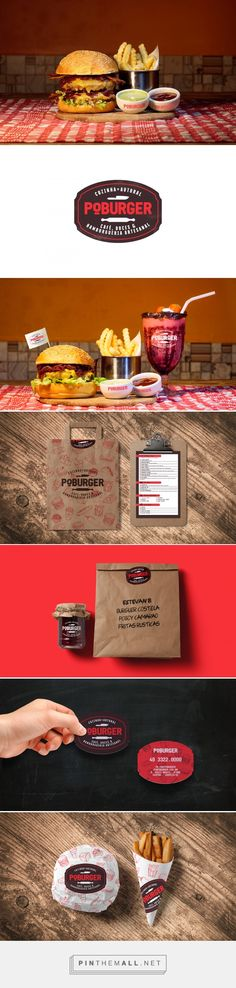 Poburger® packaging branding on Behance curated by Packaging Diva PD. Café, doces & Hamburgueria artesanal in the city of Chapecó / SC, in Brazil.