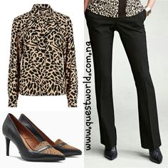 Animal print shirt size 6 #6500 Bootcut trousers size 8 #6500 Animal Leather Pointed Loafers size 7/41 #20000 www.questworld.com.ng Pay on delivery in Lagos Nationwide Delivery