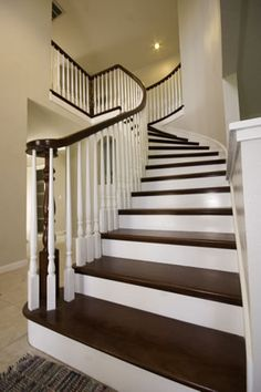 Attractive Brazilian Cherry Stairs With White Risers | Custom Hardwoods, LLC Price  List PRICE EACH TREADS