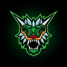 green dragon screaming head mascot logo design - Buy this stock vector and explore similar vectors at Adobe Stock Corporate Logo Design, Minimal Logo Design, Team Logo Design, Design Dragon, Gaming Logo, Butterfly Logo, Farm Logo, Organic Logo, Leaf Logo