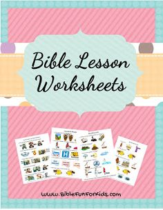 Worksheet Links @ Bible Fun For Kids