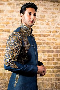 groom sherwani royal - Google Search, www,charmicreations.com
