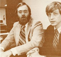 Paul Allen and Bill Gates (1979). Microsoft's all-star duo ready to take on Apple's Jobs and Wozniak duo. That would have been a great wrestling event to behold!
