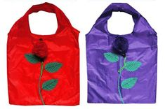 Always be ready for shopping with a reusable bag that looks like a rose! Reusable Bags, Natural Products, Athletic Tank Tops, How Are You Feeling, Rose, Shopping, Fashion, Pink, Moda