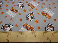 "1 Yard Hello Kitty ""I Love Kiss"" Grey Fabric"