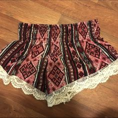 Tribal Print Shorts Only worn a few times, no flaws! Listed as Brandy Melville for advertisement. Forever 21 brand Brandy Melville Shorts