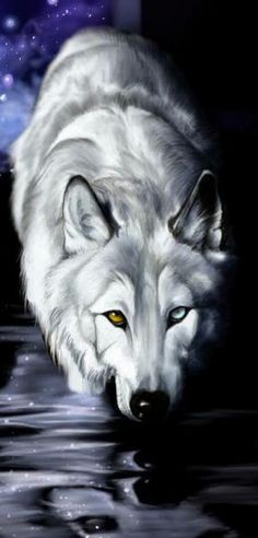 Existing Actuality wolf art