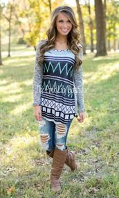 One Day At A Time Aztec Tunic